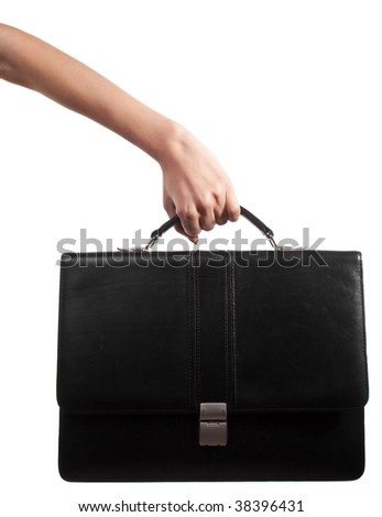 Woman hand with briefcase