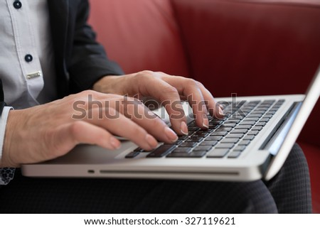 woman hand with business report