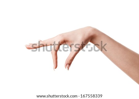 woman hands - stock photo