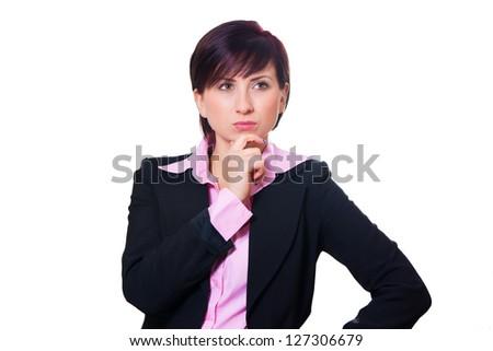 Woman has an idea - stock photo