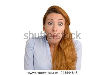 Woman has no Idea - stock photo