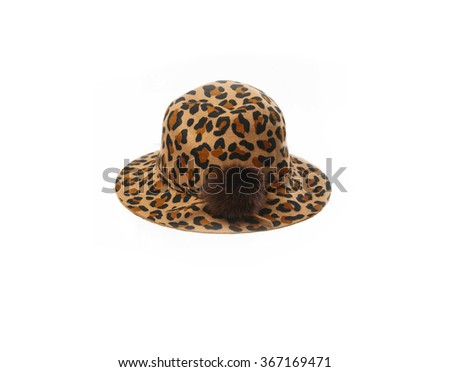 Woman hat, isolated on white   - stock photo