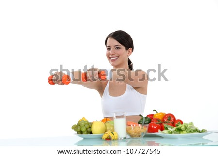 woman having a healthy life - stock photo