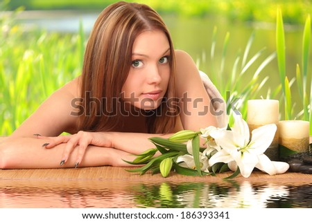woman having body care in an sp