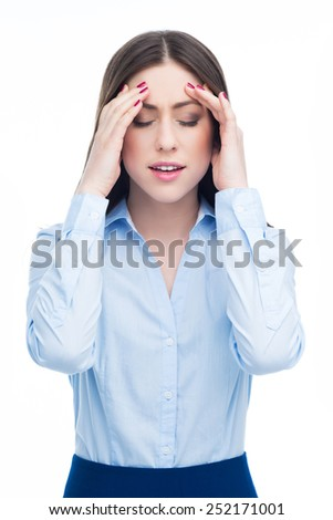 Woman having headache  - stock photo