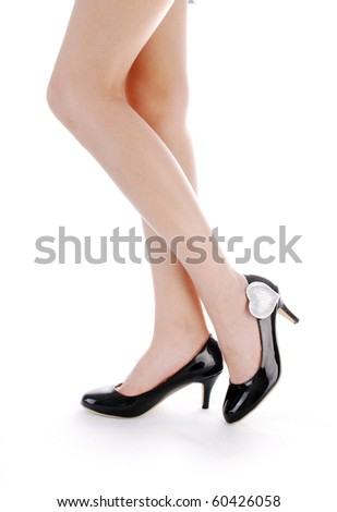 woman high-heeled shoes