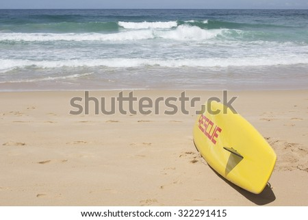 woman holding surf board go to the sea - stock photo