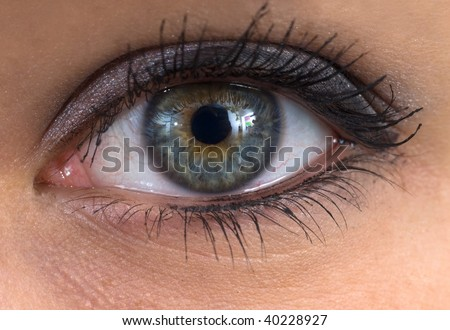 woman human eye extreme close up
