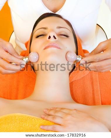 woman in a beauty-salon - stock photo