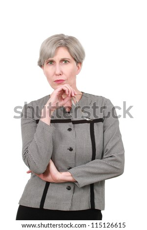 Woman in a business suit - stock photo