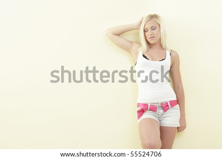 Woman in a tshirt and shorts