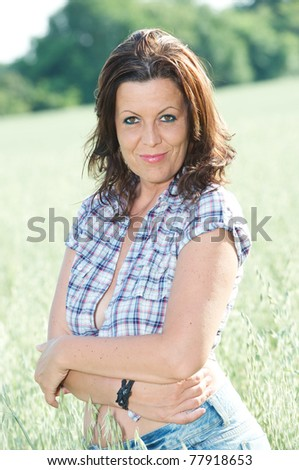 woman in campaign - stock photo