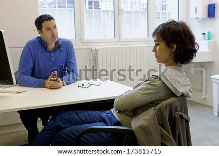 Woman In Consultation, Dialogue