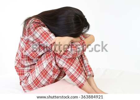 Woman in depression - stock photo