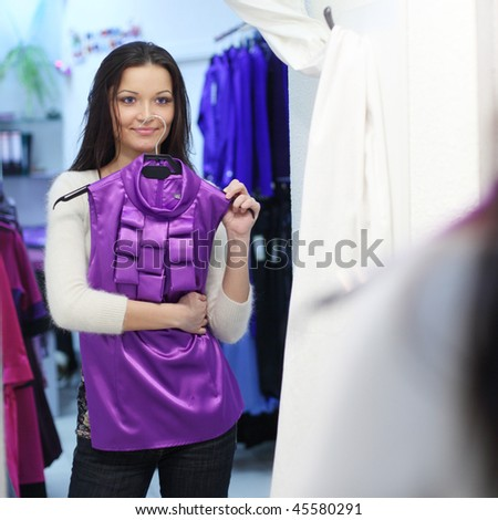 woman in dress - stock photo