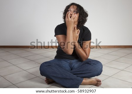 woman in emotional agony - stock photo