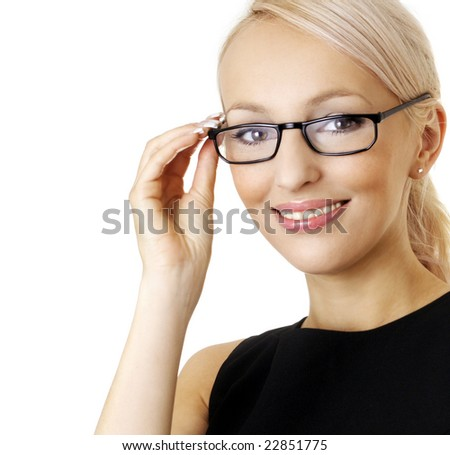 Woman in eyeglasses - stock photo