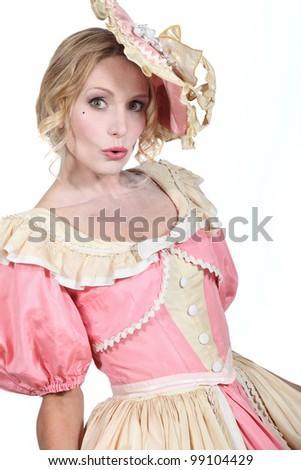 Woman in fancy dress - stock photo