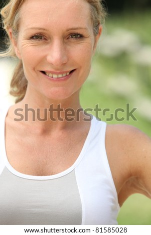 woman in fitness clothes - stock photo