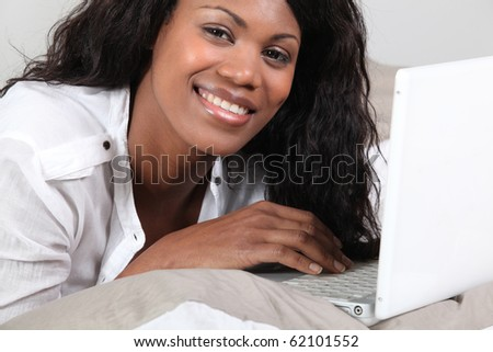 Woman in front of a laptop computer