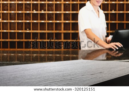 woman in hotel  - stock photo