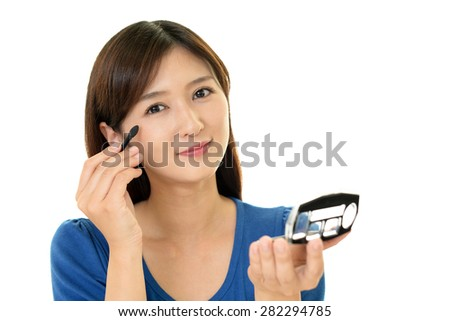 Woman in make up