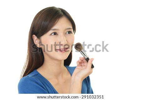 Woman in makeup