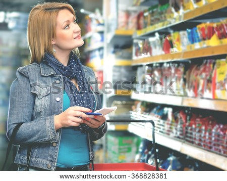 Woman in market - stock photo