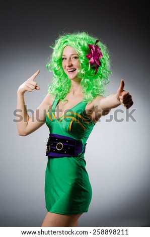 Woman in saint patrick concept - stock photo