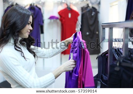 woman in shop - stock photo