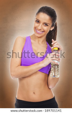 woman in sporty image - stock photo