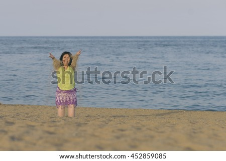 Woman in the beach