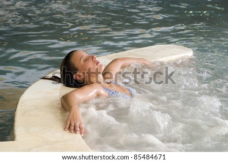 woman in the spa
