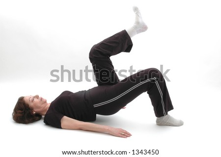 woman in yoga position 969 - stock photo