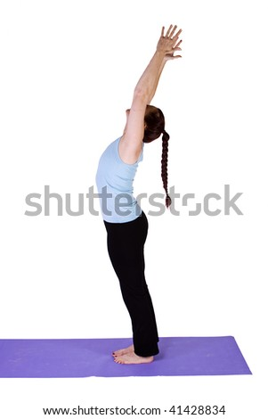 Woman in Yoga Position