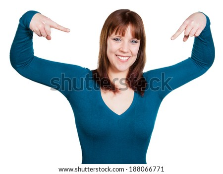 Woman is confident - stock photo