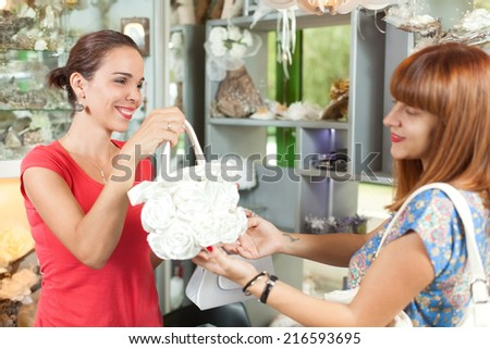 Woman is shopping - stock photo