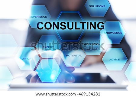 Woman is using modern tablet pc and selecting consulting concept.