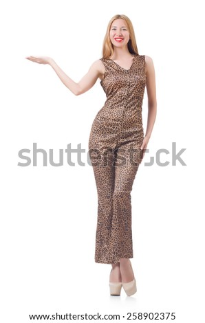 Woman isolated on the white background - stock photo