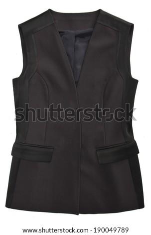 woman jacket isolated - stock photo
