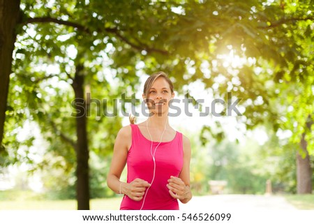 Woman jogging at the park