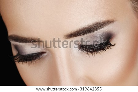 Woman lashes  - stock photo