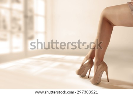 woman legs  - stock photo