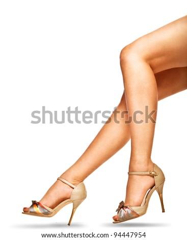 woman legs - stock photo