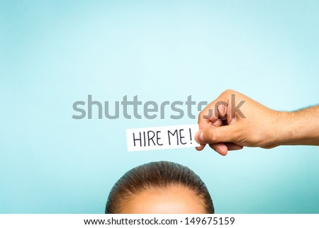 woman looking for a job - stock photo