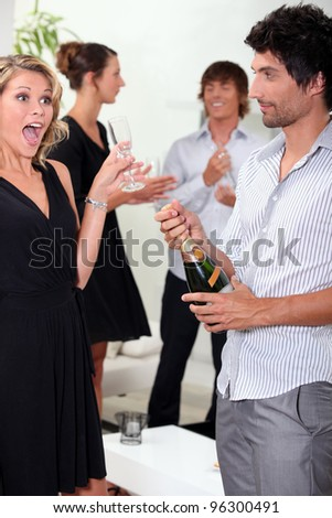 Woman looking surprised - stock photo