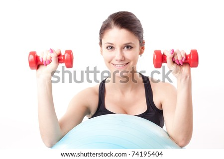 Woman makes exercise