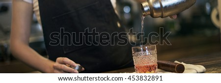 Woman Mixed Cocktail Beverage Drink Concept