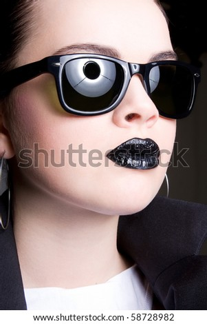 Woman of the future - stock photo