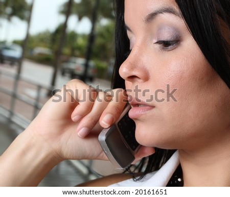 Woman on a cellphone